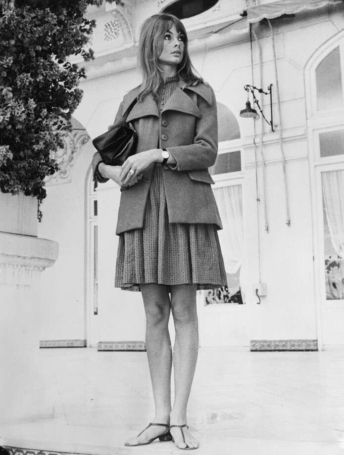 British model Jean Shrimpton on the Costa Del Sol, Spain in 1966. Photo: Central Press, Getty Images