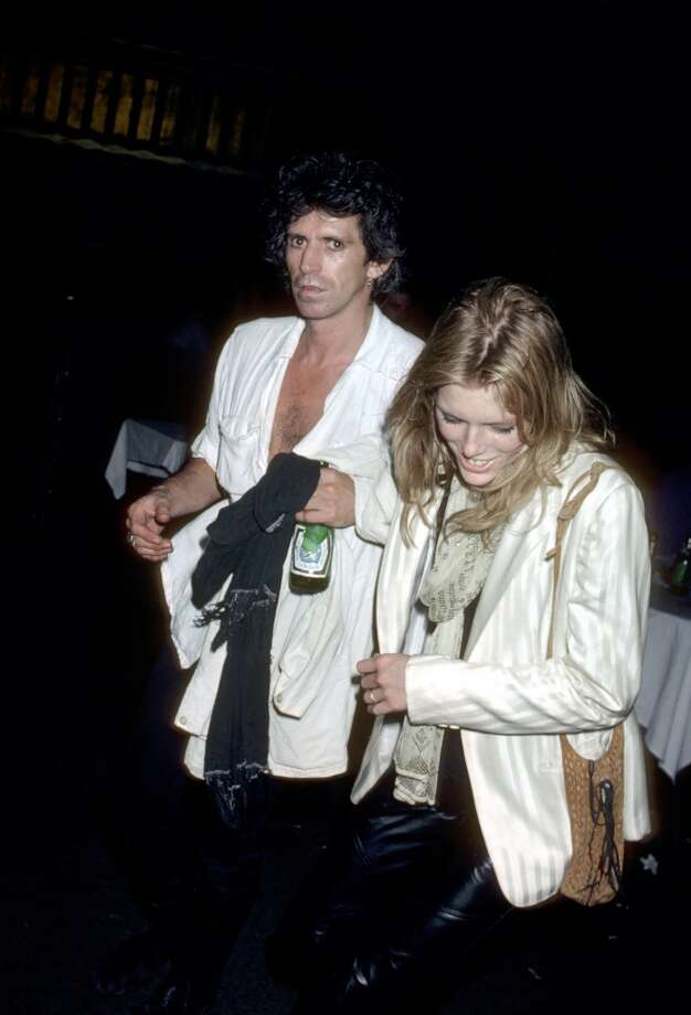 Keith Richards of the Rolling Stones and Patti Hansen Photo: Ron Galella, WireImage