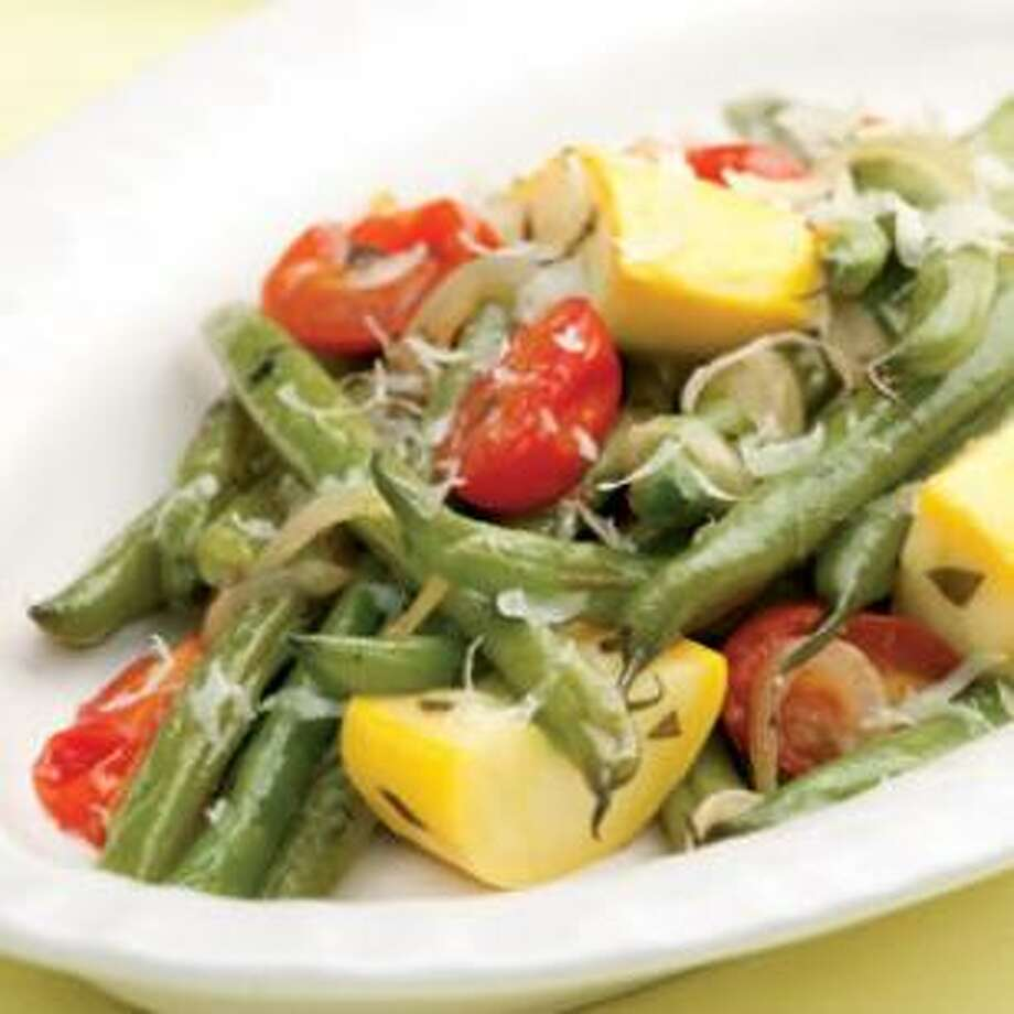 Fresh Green Bean and Summer Squash Salad (www.eatingwell.com)