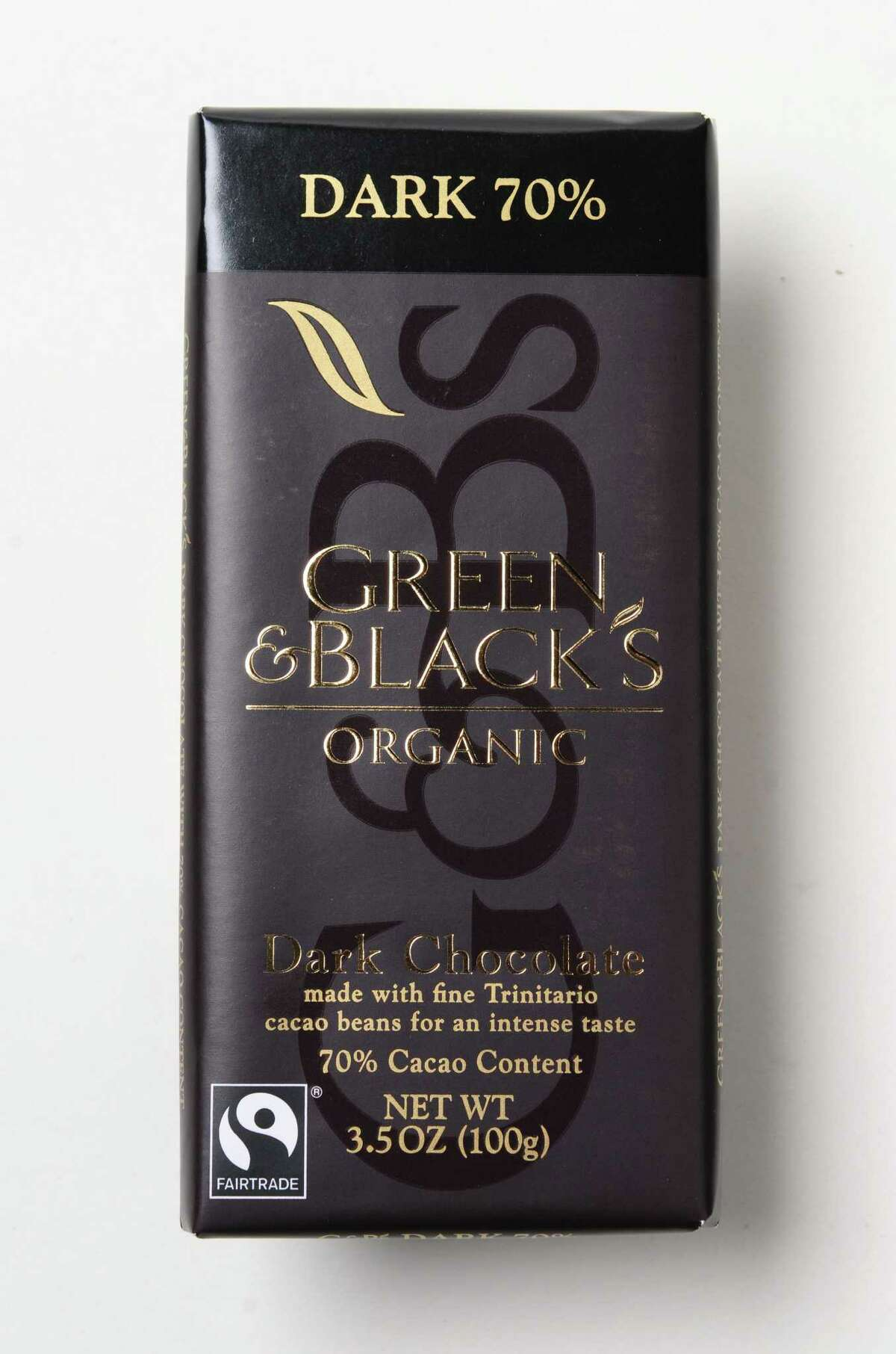 Green and Black's organic 70% cocoa chocolate Tuesday July, 16, 2013. (Will Waldron/Times Union)