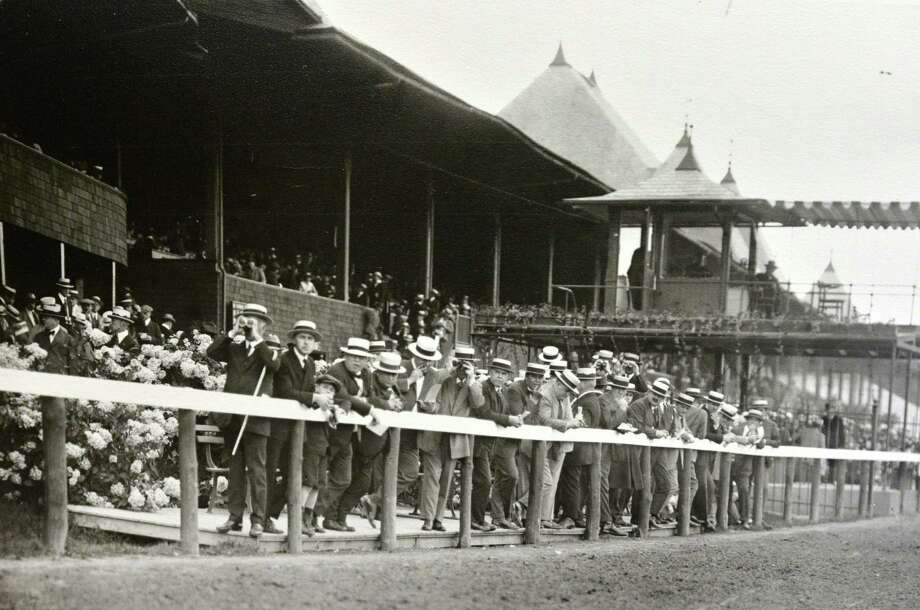 Saratoga Race Course in Saratoga Springs, N.Y., date unknown. (Courtesy of Saratoga Springs Historical Museum, George S. Bolster collection) Photo: Skip Dickstein