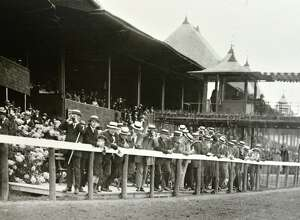 Saratoga Race Course in Saratoga Springs, N.Y., date unknown. (Courtesy of Saratoga Springs Historical Museum, George S. Bolster collection)