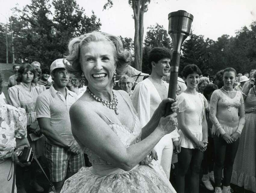 Marylou Whitney at her annual gala in 1984. (Times Union archive)