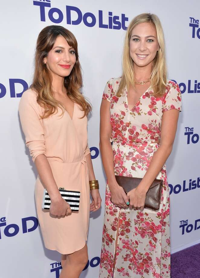 "Actresses Nasim Pedrad (L) and Molly McQueen attend the premiere of CBS Films' ""The To Do List"" on July 23, 2013 in Westwood, California.  (Photo by Alberto E. Rodriguez/Getty Images) Photo: Alberto E. Rodriguez, Getty Images"