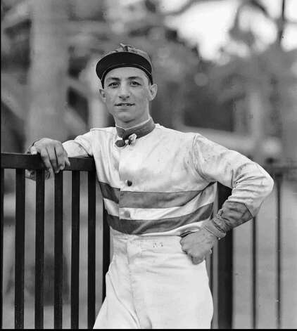 Horse racing legend Eddie Arcaro is pictured in his jockey attire at the track on March 4, 1942 at Hialeah Park, Fla.  Arcaro, who rode Whirlaway and Citation to Triple Crowns and won the Kentucky Derby five times, died Friday, Nov. '14, 1997. He was 81.   Nicknamed ''The Master,'' Arcaro came into prominence as a rider in the mid-1930s and continued near the top of his profession until his retirement in 1961. (AP Photo/file) Photo: FILER
