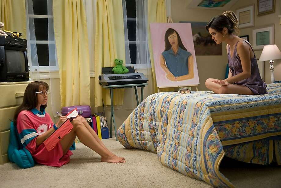 "Brandy (Aubrey Plaza, left) is berated by her sister Amber (Rachel Bilson) for being a virgin in Maggie Carey's college comedy ""The To Do List."" Photo: Bonnie Osborne, CBS Films"