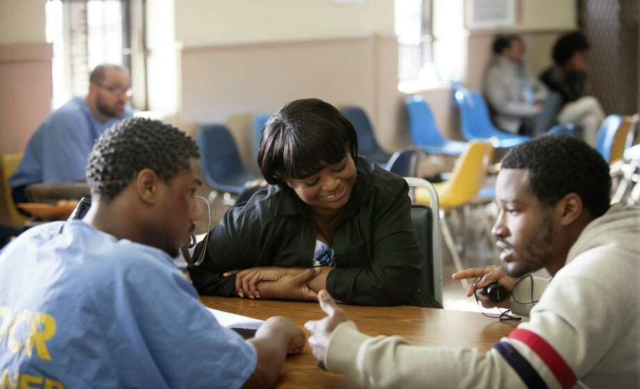 "Ryan Coogler (right) directs Michael B. Jordan and Octavia Spencer in ""Fruitvale Station."" Photo: The Weinstein Co."