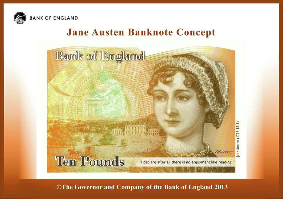 "Happy birthday!January 28 marks the 203rd annivesary of the publication of Jane Austen's ""Pride and Prejudice."" Austen was 37. Photo: HOPD / Bank of England"