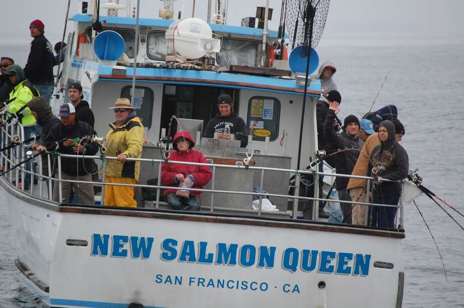 Boat load of anglers on New Salmon Queen hoping for boat load of fish Photo: Capt. R.J. Waldronn