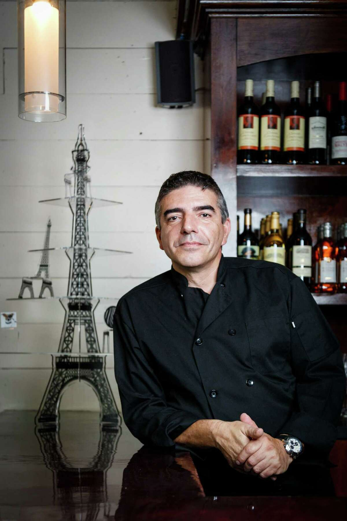 Philippe Harel's Salé-Sucré restaurant in the Heights serves French bistro fare and pastry creations.