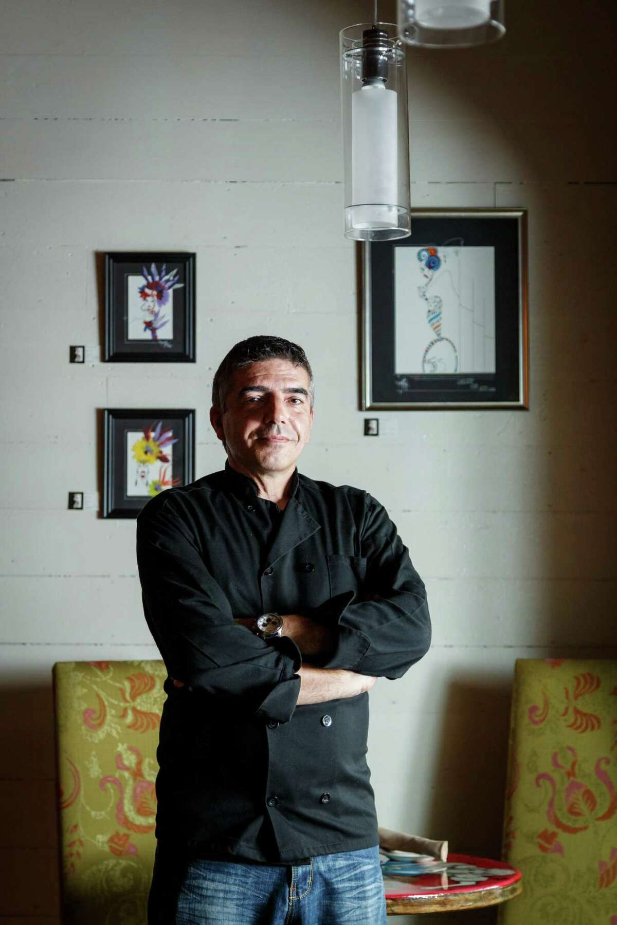 Chef and owner Philippe Harel, at Salé Sucré a new French bistro and wine bar in the Heights, Monday, July 15, 2013, in Houston. ( Michael Paulsen / Houston Chronicle )