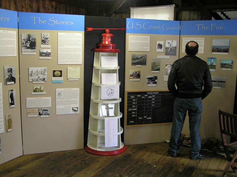 "Throughout August, the Henry Whitfield State Museum will present an exhibition (shown above) on the Faulkner's Island Lighthouse off Guilford. On Saturday, Aug. 3, a ""Finders & Keepers: Lighthouse Fun for Kids"" program is scheduled. Photo: Contributed Photo"