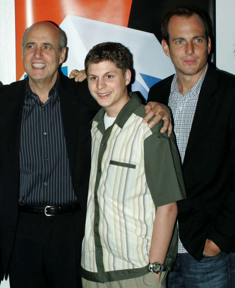 """Jeffrey Tambor (from left), Michael Cera and Will Arnett recently reprised their roles as George Oscar Bluth Sr., George Michael Bluth and George Oscar """"Gob"""" Bluth II in the Netflix revival of 'Arrested Development.' Photo: Jim Spellman, WireImage / WireImage"""