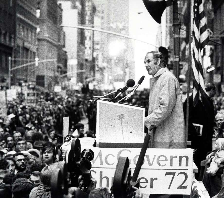 George McGovern, seen here in New York City during his 1972 campaign, was a two-time Democratic candidate for president. Photo: Ron Galella, WireImage / Ron Galella Collection