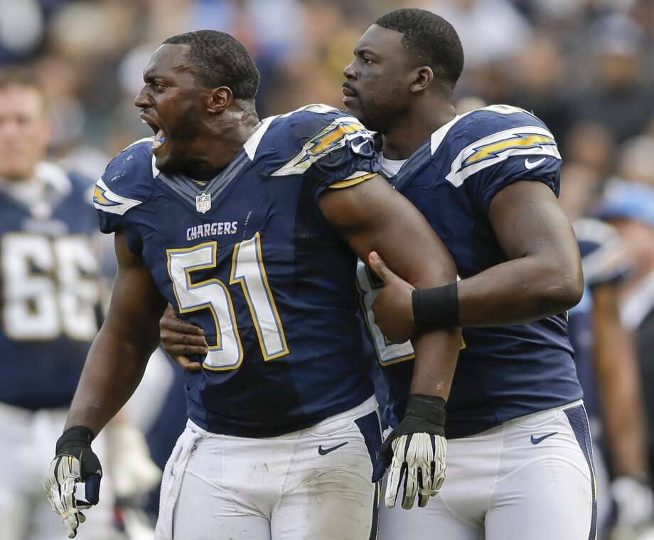 Takeo Spikes  Linebacker  Previous team: San Diego Chargers  Status: Unrestricted Photo: Lenny Ignelzi, Associated Press