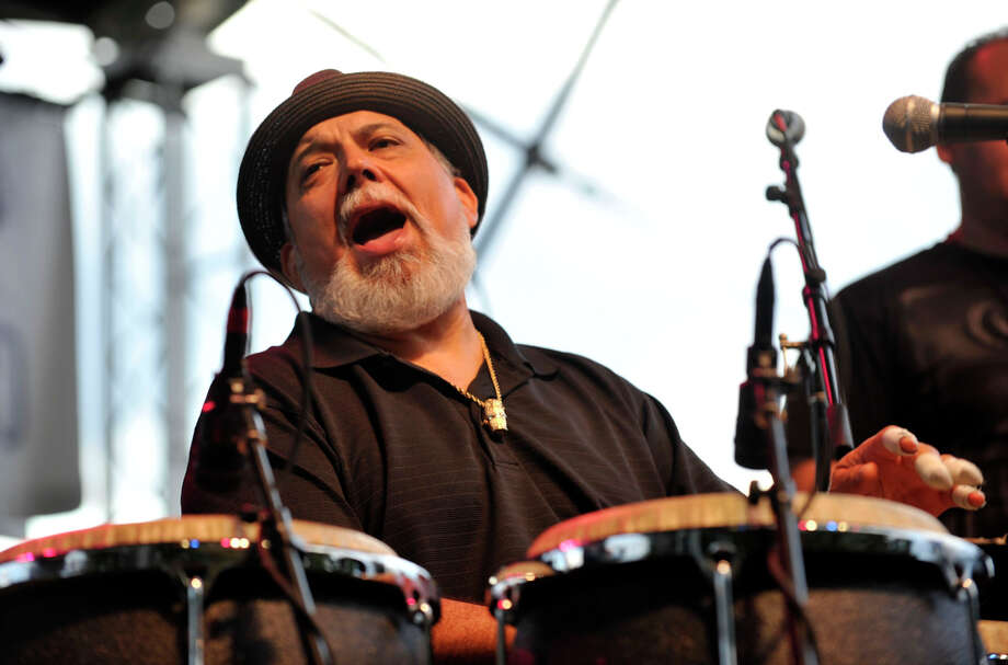 Poncho Sanchez performs with his band during Jazz Up July at Columbus Park in Stamford on Wednesday, July 24, 2013. Hearst Connecticut Newspapers are a sponsor of the event. Photo: Jason Rearick / Stamford Advocate