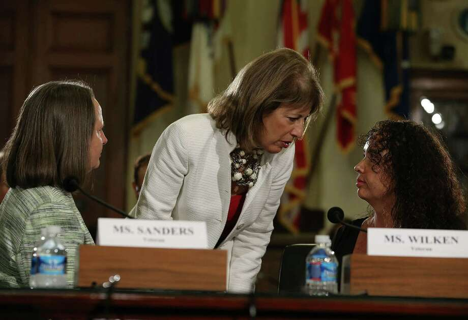 Vote on the amendment by Rep. Jackie Speier, D-Calif., shown talking  with military sexual assault survivors.   Photo: Mark Wilson, Getty Images / 2013 Getty Images