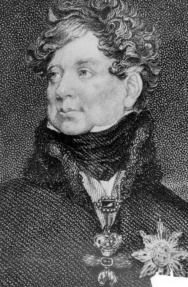 "FILE - An undated file photo of an illustration of King George IV of England. In choosing to call their first child George Alexander Louis, on Wednesday, July 24, 2013,  Prince William and his wife, Kate, selected a first name steeped in British history. While ""George"" means farmer and earth worker _ not trades typically associated with British royals _ it has been borne by six kings.  (AP Photo, File) ORG XMIT: LON118 ORG XMIT: MER2013072416343433 / AP"