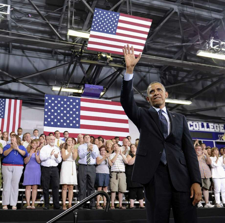 """President Barack Obama spoke about economic recovery at Knox College in Galesburg, Ill. GOP leaders such as House Speaker John Boehner said his speech was """"an Easter egg with no candy in it."""" Photo: Susan Walsh / Associated Press"""