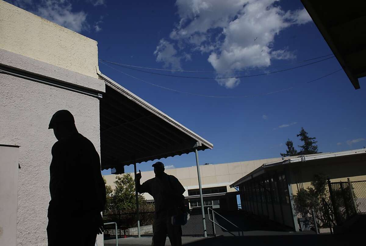 A file photo of Edna Brewer Middle School in Oakland. Neighbors say the alarm at the school has gone off about six times in the past 10 months, often in the middle of the night, waking them in their sleep.