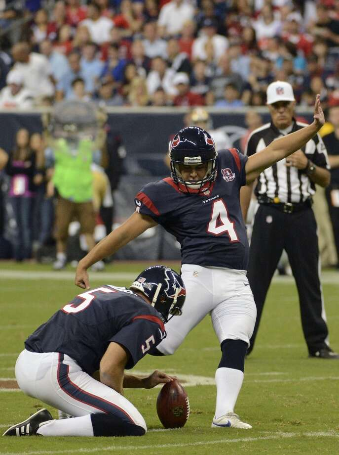 Randy Bullock, K, Houston Texans Photo: Dave Einsel, Associated Press