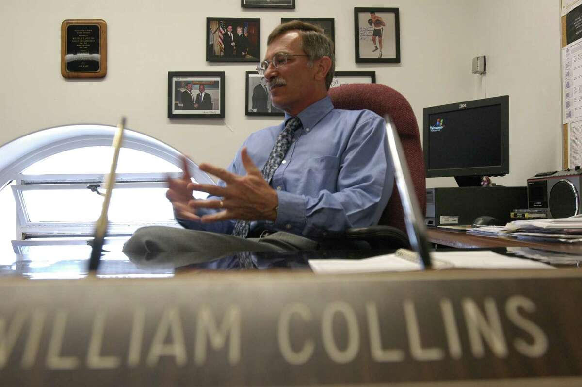 William Collins, top counsel for Assembly Democrats and a key aide to Assembly Speaker Sheldon Silver, talks about his job Tuesday, Aug. 23, 2005, in his office at the Capitol in Albany, N.Y. (Paul Buckowski/Times Union)
