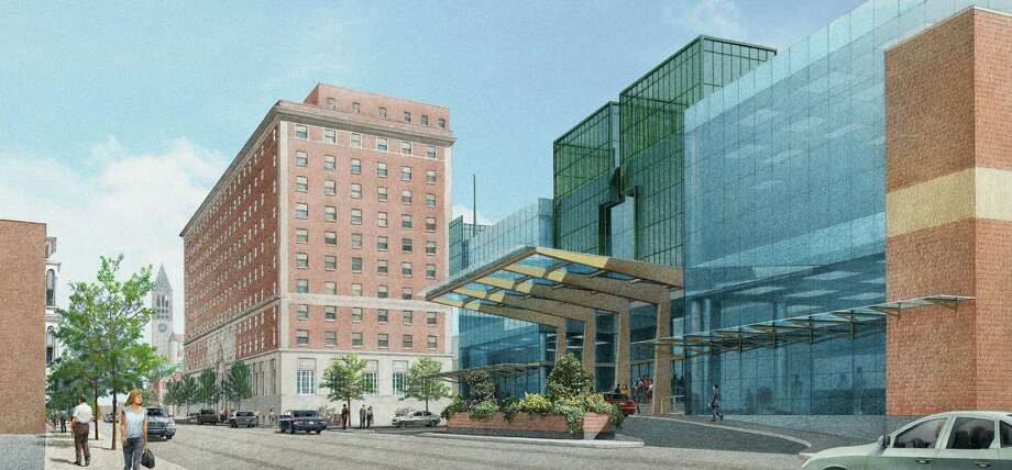 Rendering of the alternative plan for the Albany Convention Center. (Albany Convention Center Authority)