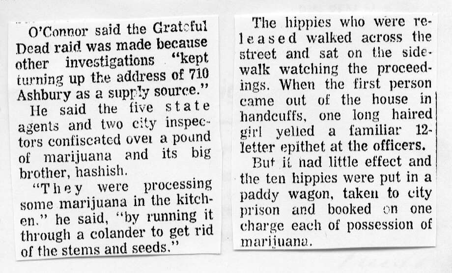 "Oct. 3, 1967: My favorite excerpt from the Chronicle article. It was a balanced article overall, although I find it curious that editors thought it was OK to refer to the accused as ""hippies."" Photo: Chronicle Archives / ONLINE_CHECK"