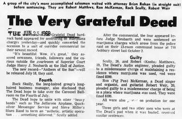 Big Event: Grateful Dead and '67 Ashbury drug bust