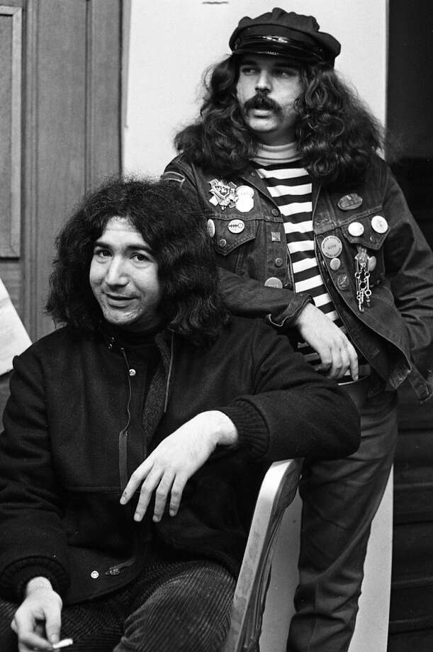 "Nov. 11, 1966: Grateful Dead members Jerry Garcia and Ronald ""Pig Pen"" McKernan hang out at 710 Ashbury. I'm including this in anticipation of readers who wonder why I included no photos of Garcia. Photo: Bob Campbell, The Chronicle"