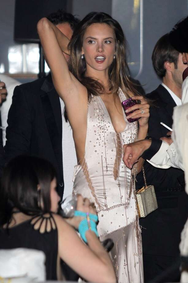 Alessandra Ambrosio is spotted at the private dinner on 'Cavalli' yacht in 2011. Photo: Marc Piasecki, FilmMagic