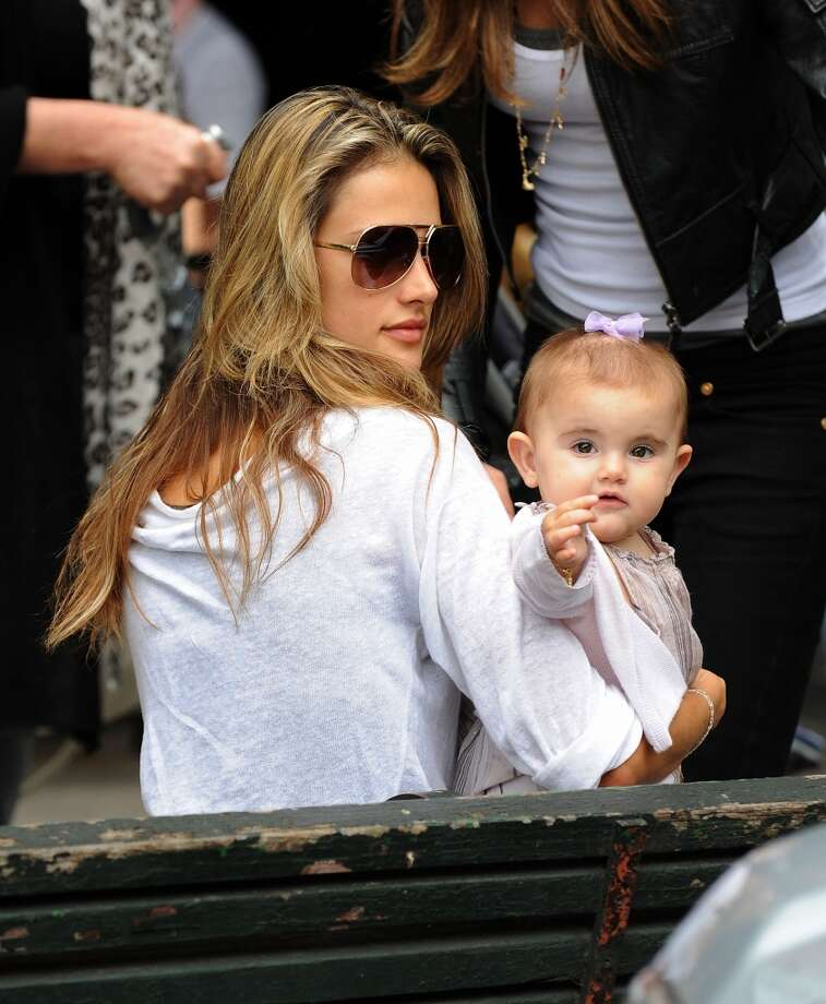 Alessandra Ambrosio and daughter Anja Louise seen leaving Bar Piti  in 2009. Photo: James Devaney, WireImage