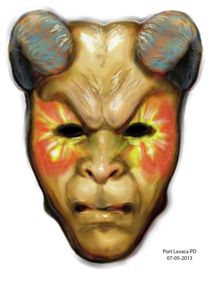 The Port Lavaca Police Department requested assistance from the Texas Department of Public Safety Forensic Artist Department. An artist rendition of the mask was produced and shown here.