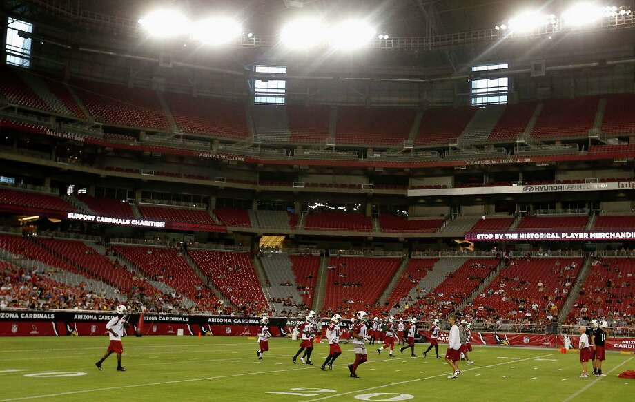 4) University of Phoenix Stadium, Arizona Cardinals Thought University of Phoenix was an online college? Well, it is. The digital educator has no sports teams, instead, the stadium is home to the Arizona Cardinals.  Photo: Wikimedia Commons
