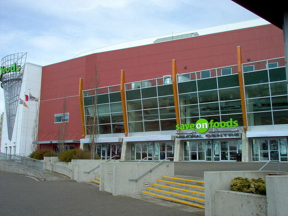 1) Save-On-Foods Memorial Centre, British ColumbiaThe name added onto the front of the building makes it look like a gigantic grocery store. Enemies will not tremble if they get the stadium confused with a local H-E-B.  Photo: Wikimedia Commons