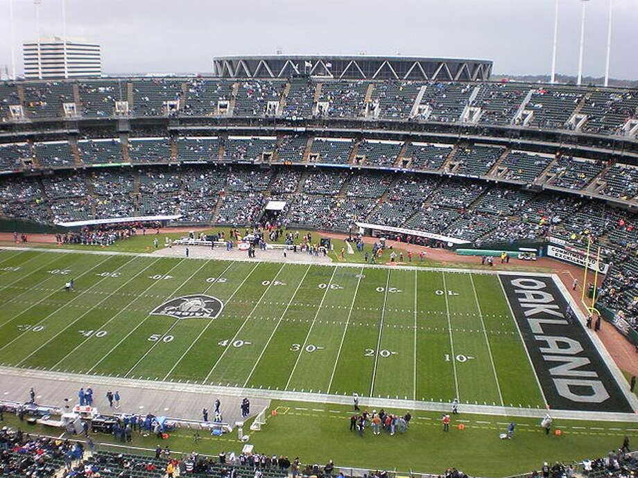6) Overstock.com Coliseum, Oakland RaidersThey shortened it to O.Co Coliseum, which really doesn't make it any better.  Photo: Wikimedia Commons