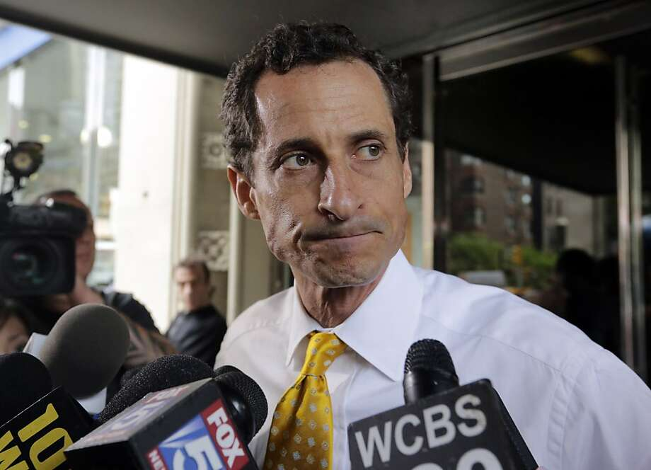 "New York mayoral candidate Anthony Weiner admitted to ""sexting."" Photo: Richard Drew, Associated Press"