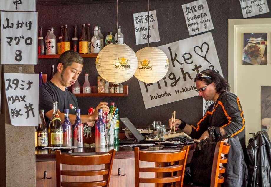 Diners enjoy dinner at Izakaya Roku in San Francisco.. Photo: John Storey, Special To The Chronicle