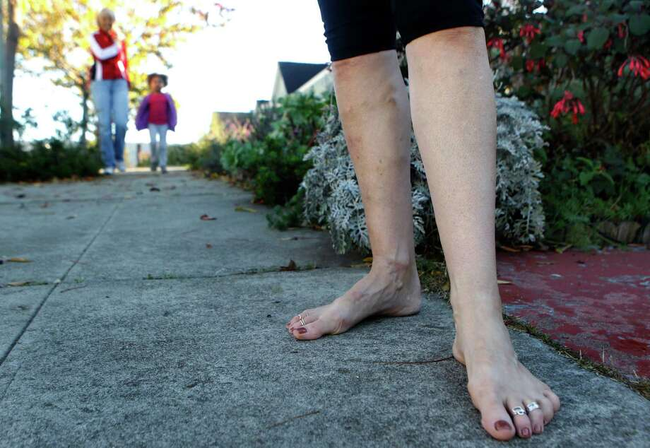 Although barefoot walking and jogging have become a trend as of late, there are many dangers to improperly covering your feet. Here are some compelling reasons to don some shoes (and that doesn't include Crocs or bunny slippers!)  Photo: Paul Chinn, The Chronicle / ONLINE_YES