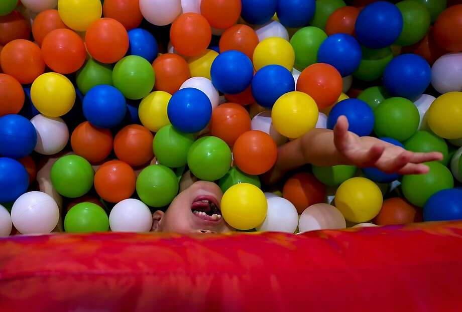 Help! Avalanche! Drop your little ones off at the Kids Fun Expo in Beijing while you 