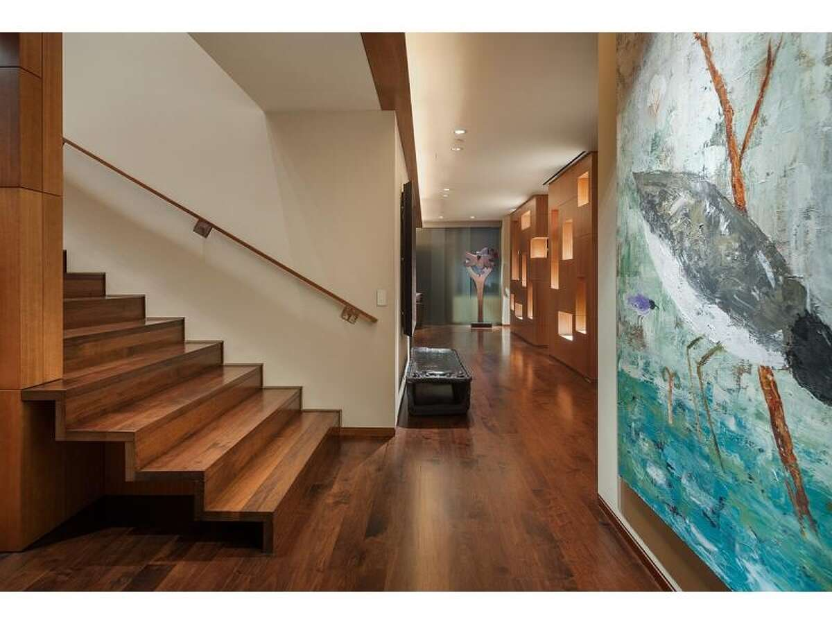 Walnut staircase of 715 2nd Ave., Unit 1504. It's listed for $2.7 million.
