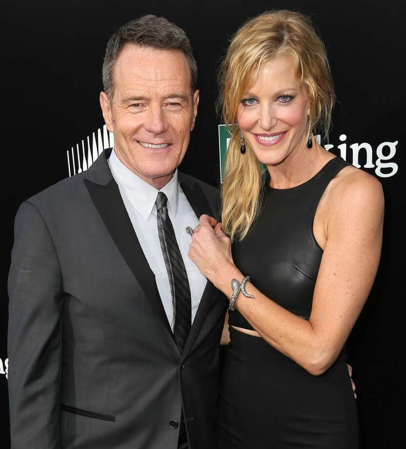 Actor Bryan Cranston (L) and actress Anna Gunn arrive as AMC Celebrates the final episodes of 'Breaking Bad' at Sony Pictures Studios on July 24, 2013 in Culver City, California.  (Photo by Imeh Akpanudosen/Getty Images) Photo: Imeh Akpanudosen, Getty Images
