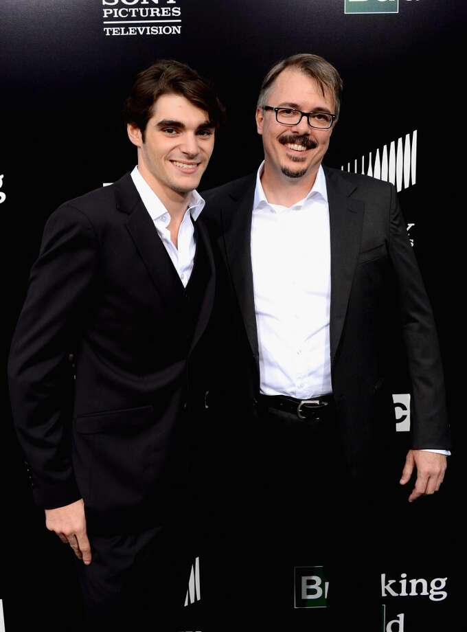 "Actors RJ Mitte and creator/executive producer Vince Gilligan arrive as AMC Celebrates the final episodes of ""Breaking Bad"" at Sony Pictures Studios on July 24, 2013 in Culver City, California.  (Photo by Mark Davis/Getty Images) Photo: Mark Davis, Getty Images"