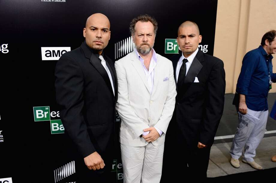 "(L-R) Actors Luis Moncada, David Costabile and Daniel Moncada arrive as AMC Celebrates the final episodes of ""Breaking Bad"" at Sony Pictures Studios on July 24, 2013 in Culver City, California.  (Photo by Mark Davis/Getty Images) Photo: Mark Davis, Getty Images"