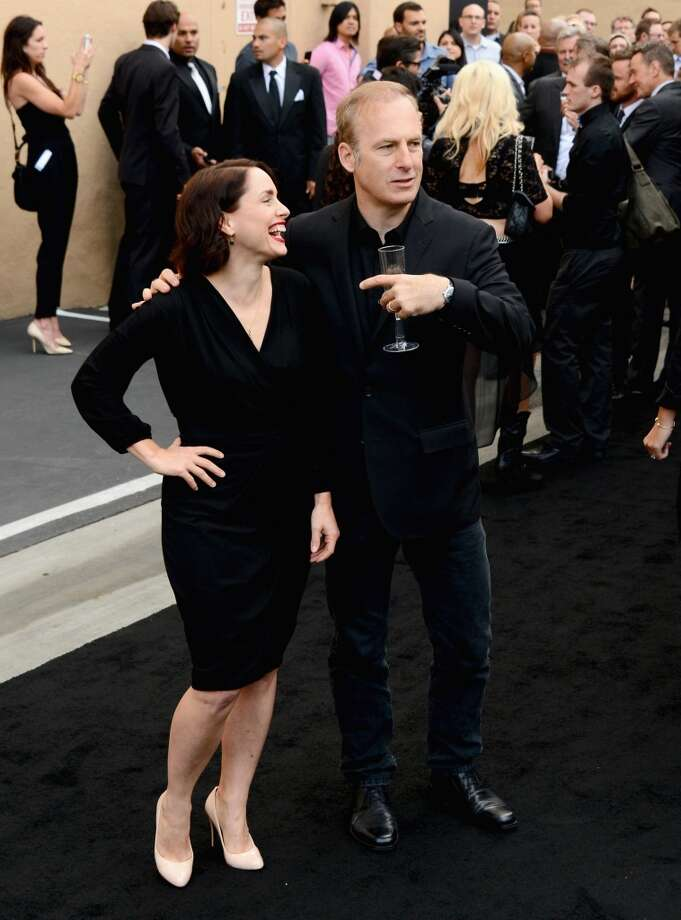"Actors Laura Fraser and Bob Odenkirk arrive as AMC Celebrates the final episodes of ""Breaking Bad"" at Sony Pictures Studios on July 24, 2013 in Culver City, California.  (Photo by Mark Davis/Getty Images) Photo: Mark Davis, Getty Images"