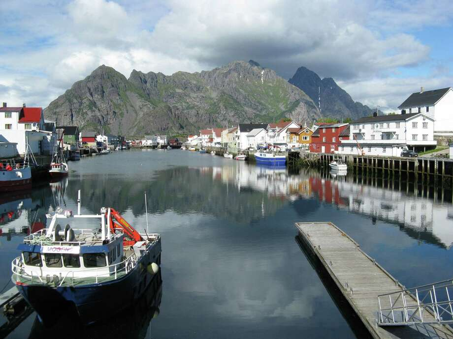 The town of Henningsvaer in the Lofoten Islands. (Herb Terns) Photo: Picasa
