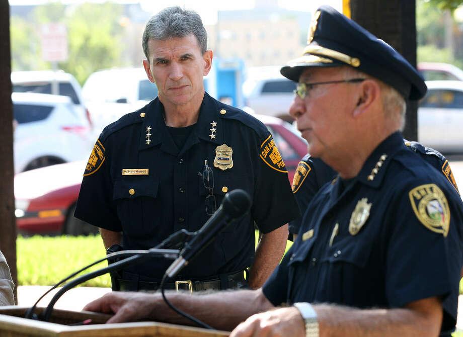 San Antonio Police Chief William McManus (left) Photo: File Photo, San Antonio Express-News