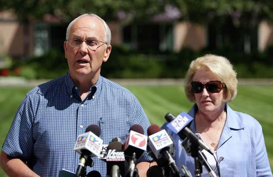 "U.S. Sen. Larry Craig will forever be known as the man with a ""wide stance"" after he pleaded guilty to misdemeanor charges stemming from complaints of lewd conduct in a men's bathroom. His wife, Suzanne, stood by his side throughout the scandal. Photo: Joe Jaszewski, MCT / Idaho Statesman"