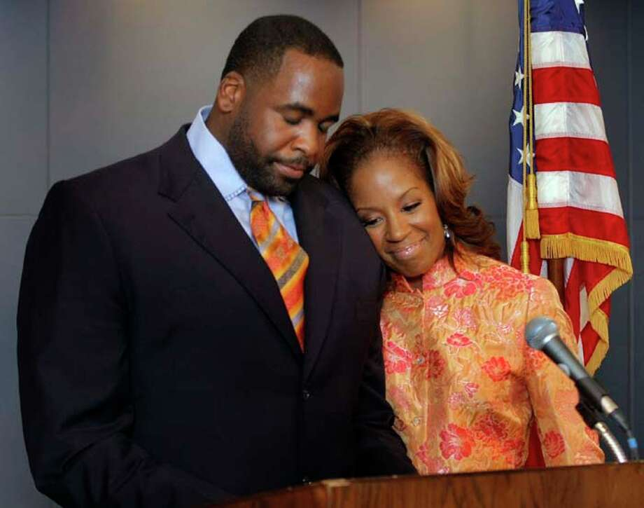 Detroit Mayor Kwame Kilpatrick has been convicted on multiple charges related to accusations of corruption. Strippers and extramarital affairs are just a few of the scandals that have dogged him. His wife, Carlita, has stood by him through all of it. He is currently in prison. She lives in Texas now. Photo: Bill Pugliano, Getty Images / 2008 Getty Images