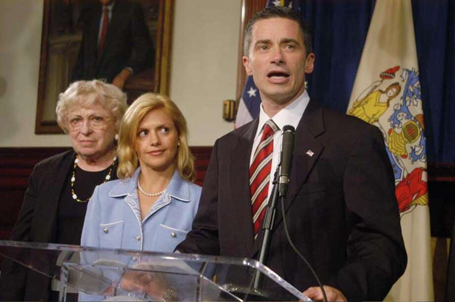 "Dina McGreevey stood by her husband, New Jersey Gov. James McGreevey, just long enough for him to announce he's a ""gay American"" after news of his extramarital affair broke. They then divorced. Photo: Laura Pedrick, Getty Images / 2004 Laura Pedrick"